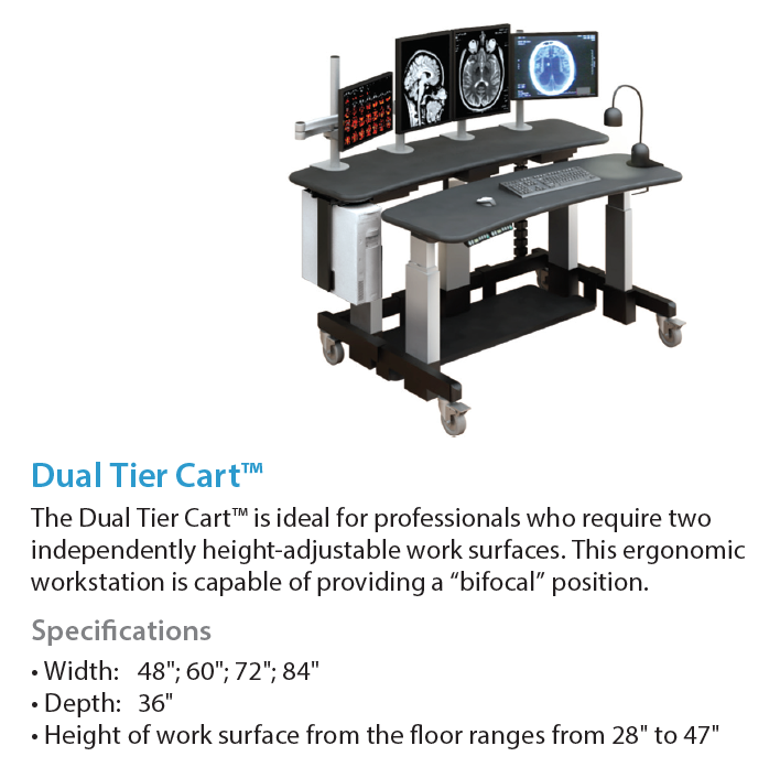 AFC Industries Dual Tier Cart Radiology Furniture