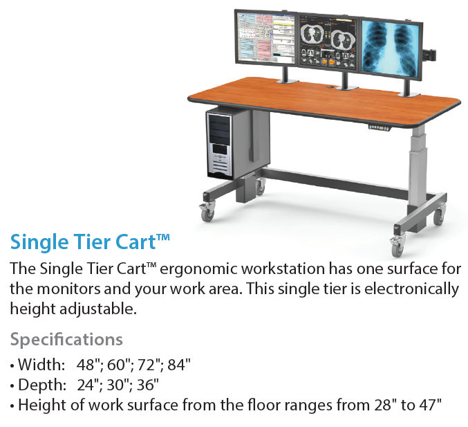 AFC Industries Single Tier Cart Radiology Furniture